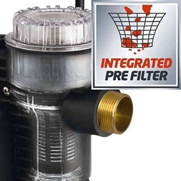 Einhell Hauswasserautomat GC-AW 9036 (900W, 4,3 bar Druck, 3600 l/h Fördermenge, Vorfilter, Rückschlagventil, autom. Durchflussschalter mit LED-Anz.) - 3