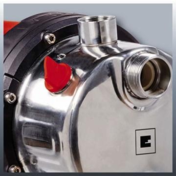 Einhell Hauswasserwerk GC-WW 1250 NN (1200 W, max. 5 bar, 5000 L/h Fördermenge, max. 50 m Förderhöhe, wartungsfreier Motor, Wasserablassschraube, 20 L Edelstahldruckkessel) - 2