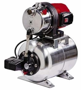 Einhell Hauswasserwerk GC-WW 1250 NN (1200 W, max. 5 bar, 5000 L/h Fördermenge, max. 50 m Förderhöhe, wartungsfreier Motor, Wasserablassschraube, 20 L Edelstahldruckkessel) - 1