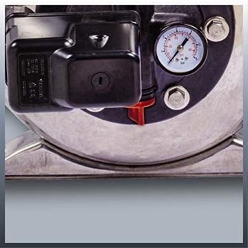 Einhell Hauswasserwerk GC-WW 1250 NN (1200 W, max. 5 bar, 5000 L/h Fördermenge, max. 50 m Förderhöhe, wartungsfreier Motor, Wasserablassschraube, 20 L Edelstahldruckkessel) - 6