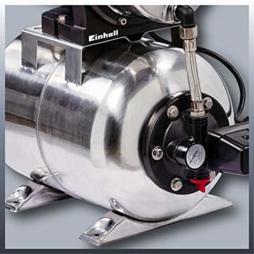 Einhell Hauswasserwerk GC-WW 1250 NN (1200 W, max. 5 bar, 5000 L/h Fördermenge, max. 50 m Förderhöhe, wartungsfreier Motor, Wasserablassschraube, 20 L Edelstahldruckkessel) - 7