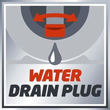 Einhell Hauswasserwerk GC-WW 1250 NN (1200 W, max. 5 bar, 5000 L/h Fördermenge, max. 50 m Förderhöhe, wartungsfreier Motor, Wasserablassschraube, 20 L Edelstahldruckkessel) - 8