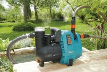 Gardena Comfort Gartenpumpe 5000/5: Bewässerungspumpe mit 5000 l/h Fördermenge und langer Lebensdauer, Leistung 1300 W, hochwertig, geräuscharm, automatische Sicherheitsabschaltung (1734-20) - 2