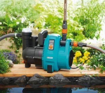 Gardena Comfort Gartenpumpe 5000/5: Bewässerungspumpe mit 5000 l/h Fördermenge und langer Lebensdauer, Leistung 1300 W, hochwertig, geräuscharm, automatische Sicherheitsabschaltung (1734-20) - 4