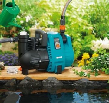 Gardena Comfort Gartenpumpe 5000/5: Bewässerungspumpe mit 5000 l/h Fördermenge und langer Lebensdauer, Leistung 1300 W, hochwertig, geräuscharm, automatische Sicherheitsabschaltung (1734-20) - 5
