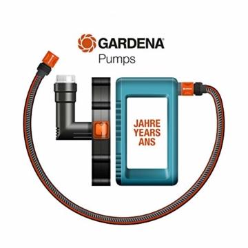 Gardena Comfort Gartenpumpe 5000/5: Bewässerungspumpe mit 5000 l/h Fördermenge und langer Lebensdauer, Leistung 1300 W, hochwertig, geräuscharm, automatische Sicherheitsabschaltung (1734-20) - 6
