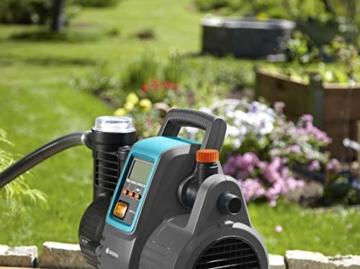 Gardena Comfort Hauswasserautomat 5000/5E LCD: Hauswasserpumpe mit LC-Display, energiesparend, Fördermenge 5000 l/h, 1300W Motor mit Thermoschutzschalter, Trockenlaufsicherung (1759-20) - 2