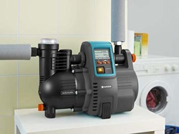 Gardena Comfort Hauswasserautomat 5000/5E LCD: Hauswasserpumpe mit LC-Display, energiesparend, Fördermenge 5000 l/h, 1300W Motor mit Thermoschutzschalter, Trockenlaufsicherung (1759-20) - 11