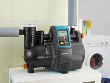 Gardena Comfort Hauswasserautomat 5000/5E LCD: Hauswasserpumpe mit LC-Display, energiesparend, Fördermenge 5000 l/h, 1300W Motor mit Thermoschutzschalter, Trockenlaufsicherung (1759-20) - 4