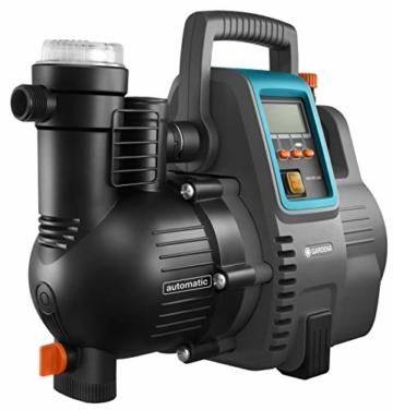 Gardena Comfort Hauswasserautomat 5000/5E LCD: Hauswasserpumpe mit LC-Display, energiesparend, Fördermenge 5000 l/h, 1300W Motor mit Thermoschutzschalter, Trockenlaufsicherung (1759-20) - 6