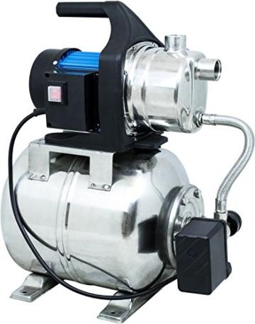 Güde 94637 HWW 1000E Hauswasserwerk (1000W, 3500l/h, Druckschalter, 19 l Edelstahltank, Förderhöhe 44M) - 1