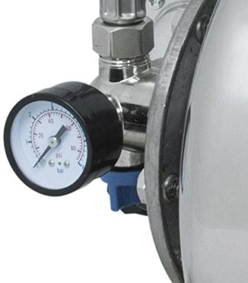 Güde 94637 HWW 1000E Hauswasserwerk (1000W, 3500l/h, Druckschalter, 19 l Edelstahltank, Förderhöhe 44M) - 5