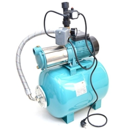 Hauswasserwerk 50L m. 1300W INOX Pumpe + Trockenlaufschutz Hauswasserautomat - 1