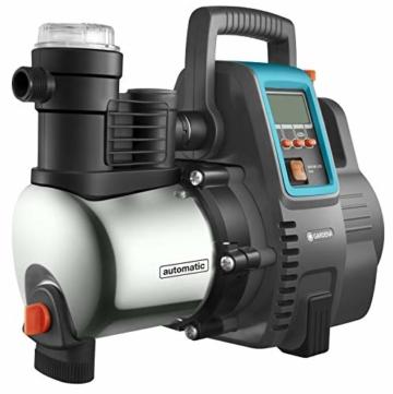 Gardena Premium Hauswasserautomat 6000/6E LCD Inox: Hauswasserpumpe mit 6000 l/h Fördermenge, 1300 W Motor, mit LC-Display, Pumpengehäuse aus rostfreiem hochwertigem Edelstahl (1760-20) - 2