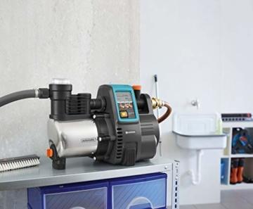 Gardena Premium Hauswasserautomat 6000/6E LCD Inox: Hauswasserpumpe mit 6000 l/h Fördermenge, 1300 W Motor, mit LC-Display, Pumpengehäuse aus rostfreiem hochwertigem Edelstahl (1760-20) - 11