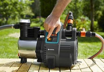 Gardena Premium Hauswasserautomat 6000/6E LCD Inox: Hauswasserpumpe mit 6000 l/h Fördermenge, 1300 W Motor, mit LC-Display, Pumpengehäuse aus rostfreiem hochwertigem Edelstahl (1760-20) - 3