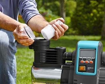 Gardena Premium Hauswasserautomat 6000/6E LCD Inox: Hauswasserpumpe mit 6000 l/h Fördermenge, 1300 W Motor, mit LC-Display, Pumpengehäuse aus rostfreiem hochwertigem Edelstahl (1760-20) - 4