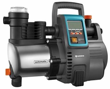 Gardena Premium Hauswasserautomat 6000/6E LCD Inox: Hauswasserpumpe mit 6000 l/h Fördermenge, 1300 W Motor, mit LC-Display, Pumpengehäuse aus rostfreiem hochwertigem Edelstahl (1760-20) - 1