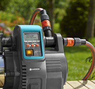 Gardena Premium Hauswasserautomat 6000/6E LCD Inox: Hauswasserpumpe mit 6000 l/h Fördermenge, 1300 W Motor, mit LC-Display, Pumpengehäuse aus rostfreiem hochwertigem Edelstahl (1760-20) - 8
