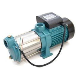 Gartenpumpe 2200 Watt INOX 9600 L/h 5,5bar Hauswasserwerk Kreiselpumpe MHi 2200 INOX - 1