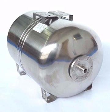 Hauswasserwerk Edelstahl/INOX 100 Liter + Vorfilter mit Kreiselpumpe HMC-170 1500 Watt INOX 10200l/h - 170l/h - Förderh.: 65m, Druck 5,5bar + Pumpensteuerung PS-01 Trockenlaufschutz. - 3
