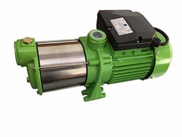 Hauswasserwerk Edelstahl/INOX 100 Liter + Vorfilter mit Kreiselpumpe HMC-170 1500 Watt INOX 10200l/h - 170l/h - Förderh.: 65m, Druck 5,5bar + Pumpensteuerung PS-01 Trockenlaufschutz. - 4