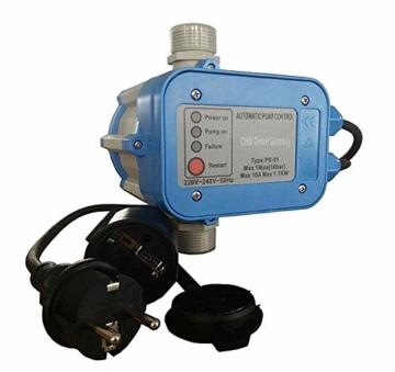 Hauswasserwerk Edelstahl/INOX 100 Liter + Vorfilter mit Kreiselpumpe HMC-170 1500 Watt INOX 10200l/h - 170l/h - Förderh.: 65m, Druck 5,5bar + Pumpensteuerung PS-01 Trockenlaufschutz. - 5