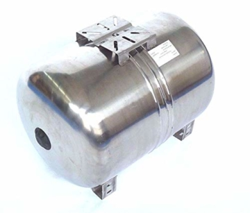 Hauswasserwerk Edelstahl/INOX 100 Liter + Vorfilter mit Kreiselpumpe HMC-170 1500 Watt INOX 10200l/h - 170l/h - Förderh.: 65m, Druck 5,5bar + Pumpensteuerung PS-01 Trockenlaufschutz. - 6
