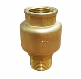 Rückschlagventil 1 Zoll (33mm) gerade_-=-_ mit Messingkegel als Rückschlagklappe für Brunnen Saugschlauch Hauswasserwerk Schwengelpumpe Gartenpumpen -Das Ventil das die Profis nutzen ! - 1