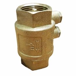Rückschlagventil 1 Zoll (33mm) mit doppelter Entlüftung - mit Messingklappe für Brunnen Saugschlauch Hauswasserwerk Schwengelpumpe Gartenpumpe -Qualität vom Fachmann ! … (1 Zoll (33mm)) - 1